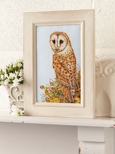 Autumn owl: Jayne Netley Mayhew amazes us again with her breathtaking barn owl design on page 40 of our September 240 issue of CSC: http://www.crossstitchcollection.com/subscribe-cross-stitch-collection/
