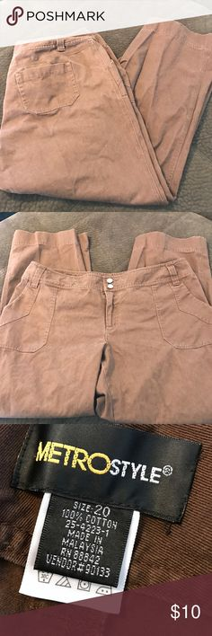 Metrostyle brown ankle length pants 20 Great condition metrostyle Pants Ankle & Cropped