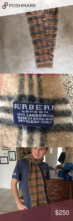 Burberry Plaid Scarf 100% Lambswool Burberry plaid scarf made in England, i am open to offers, please leave me one. Burberry Accessories Scarves & Wraps