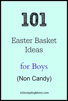 101 Easter Basket Ideas for Boys