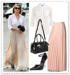 How to wear a Maxi Skirt to work.