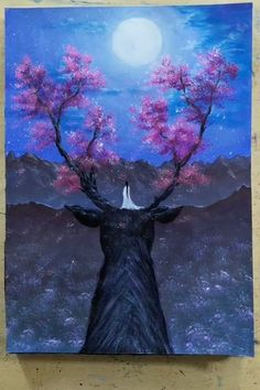 So beautiful paintings 😍 - Zeichnung Fairy Paintings, Cute Canvas Paintings, Canvas Painting Tutorials, Small Canvas Art, Diy Canvas Art, Fantasy Paintings, Acrylic Painting Canvas, Beautiful Paintings, Painting Videos