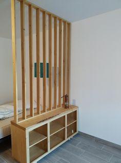 Small Apartment Design, Small Room Design, Home Room Design, Dream Home Design, Living Room Partition Design, Room Partition Designs, Furniture Makeover, Home Furniture, Furniture Design