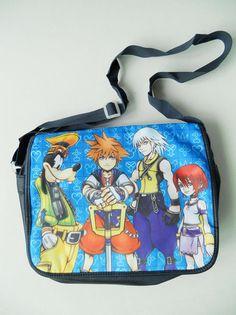 Kingdom Hearts Sora Logo School Shoulder Bag New