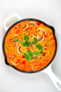 A large pot filled with tom yum soup Tom Yum Noodle Soup, Tom Yum Noodles, Tom Yum Soup, Thai Hot And Sour Soup, Mushroom Varieties, Vegan Fish, Small Tomatoes, Chili Oil, Tomato Vegetable