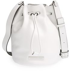 MARC BY MARC JACOBS 'Luna' Leather Drawstring Bucket Bag (535 AUD) ❤ liked on Polyvore