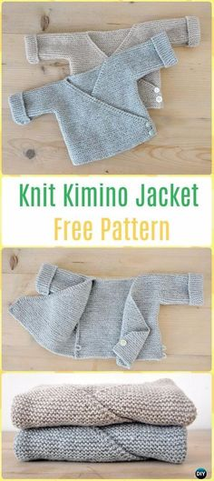 Knit Baby Knit Kimono Jacket Free Pattern - Knit Baby Sweater Outwear Free Patterns