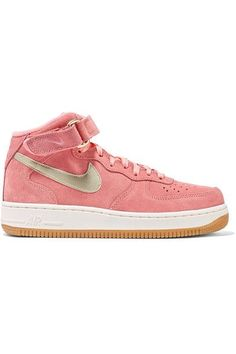 Rubber sole measures approximately 30mm/ 1 inch Pink suede, gold leather Velcro®-fastening strap, lace-up front Nike follows its own size conversion, therefore the size stated on the box will differ from the one provided in our conversion chart. To receive your correct fit, please refer to Size & Fit notes  Imported