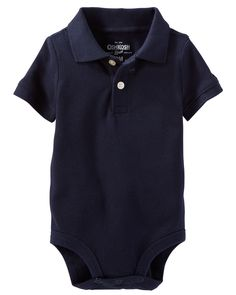 Baby Boy Piqué Polo Bodysuit   OshKosh.com