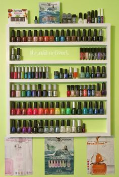 DIY Nail Polish Rack