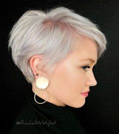 Hairstyles 2019 : Haircut styles for thin hair women Styles ] All the thin hair women complain about their dull hair all the time. In particular, one of the greatest dreams of those who have both fine hair and Haircuts For Fine Hair, Short Pixie Haircuts, Pixie Hairstyles, Short Hairstyles For Women, School Hairstyles, Haircut Short, Pixie Haircut Thin Hair, Pixie Cut Thin Hair, Halloween Hairstyles