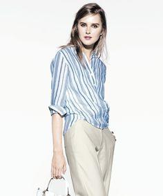 リネンストライプ シャツ Linen Striped Shirt on Shopstyle.co.jp