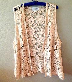 Vintage Crocheted Granny Vest by BarbeeVintage on Etsy #vintage #Coachella #1970s