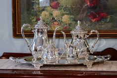 Silver Plate Tea Service  1950's Wickford Silver by PearlsParlor