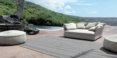 COVE - Designer Sofas from Paola Lenti ✓ all information ✓ high-resolution images ✓ CADs ✓ catalogues ✓ contact information ✓ find your. Outdoor Carpet, Outdoor Rugs, Outdoor Spaces, Indoor Outdoor, Outdoor Decor, Sofa Design, Tile Design, Cool Furniture, Home