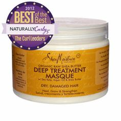 Shea Moisture Organic Raw Shea Butter Deep Treatment Masque | Sulfate-free & color-safe. Sea kelp: trace minerals detoxify hair follicles of impurities and residue. Argan oil: restores shine and rebuilds hair elasticity. Shea butter: deeply moisturizes and repairs damage to hair and scalp.