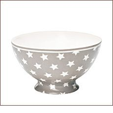 GreenGate Suppenschüssel Star Warm Grey