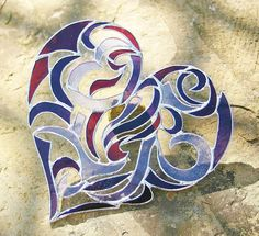 Stained Glass Heart -this is a very cool design @Kelly Teske Goldsworthy