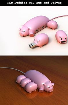 So cute! USB Plugs
