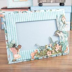 Gorgeous #handmade frame from the @graphic45 Once Upon a Springtime Deluxe Collecters Edition! Shop now: http://www.createandcraft.tv/Graphic_45_Deluxe_Collector%40es_Edition_Papercraft_Set_-_Once_Upon_a_Springtime-338289.aspx?p=1 #papercraft #craft