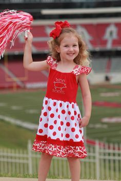 2b1c31c5b33 Perfect dress for all the little Hog fans!! 95% Cotton 5% Spandex