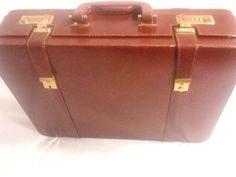 Brown Faux Leather Briefcase/Attache, Combination Lock #Unbranded #BriefcaseAttache $45