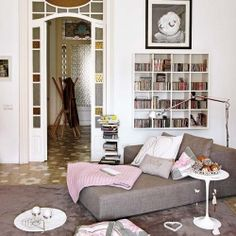 Publishing house transformed into charming home in Barcelona, Spain.