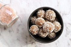 Salted caramel bliss balls | Healthy, refined sugar free