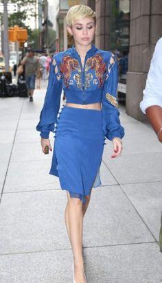 Miley Cyrus vintage crop jacket