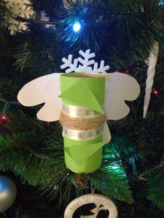 Vianocna ozdoba ,anjelik z wc rolky