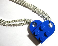 LEGO BFF heart friendship necklace. So simple, but so cute!