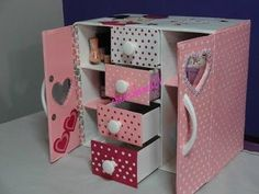 How to Make Dressing Table, Vanity Table, DIY Desk Organizer from  Cardboard & Newspaper - YouTube