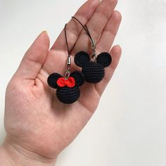 Mickey Mouse sleutelhangers Minnie Mouse keyring Mickey | Etsy