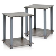 Furinno Simplistic End Table - Set of 2 - 12127EX/BK