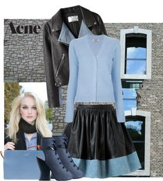 """""""Acne: leather"""" by bodangela ❤ liked on Polyvore"""
