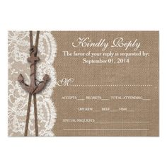 The Rustic Nautical Anchor Wedding Collection RSVP