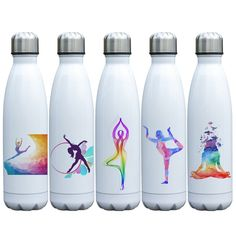 Buy Insulated Water Bottle Double Wall Vacuum Stainless Steel Bottle Leak Proof keeps Hot and Cold Drinks Unique Yoga Bottle Insulated Water Bottle, Glass Water Bottle, Vacuum Flask, Stainless Steel Water Bottle, Wedding Catering, Yoga, Cold Drinks, Flasks, Food Containers