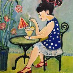 #cocktails #art #happy Primitive Folk Art, Folk Art, Disney Characters, Naive Art, Ethel, Art, Folk