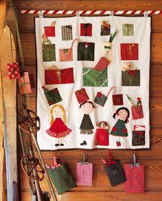 Un calendrier de l'avent cousu de cadeaux
