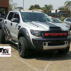 Ford ranger wildtrak on set kit available at #tttrautoupgradeshop front bonet scoop, led grilshow, light grill, fenders raptor…