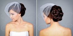 Blusher Veil Hairstyles | Wedding Veil Styles (by EmmalineBride.com, veil by Unveiled Bridal ...