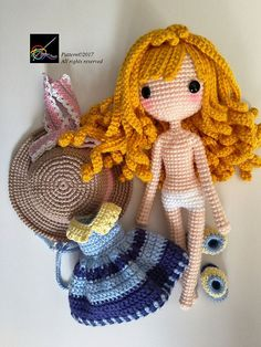 Crochet Doll Pattern Sunni 珊倪