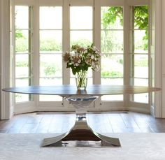 Capricorn Dining Table - Contemporary Traditional Transitional Dining Room Tables - Dering Hall