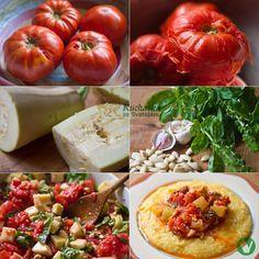 Kuchařka ze Svatojánu: RAJČATOVÁ OMÁČKA S POLENTOU Polenta, Vegetables, Cooking, Food, Kitchen, Essen, Vegetable Recipes, Meals, Yemek