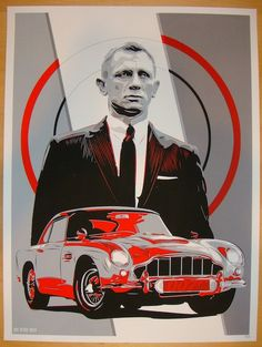 """Martin, Aston Martin - silkscreen art print (click image for more detail) Artist: Joe Vetoe Venue: n/a Location: n/a Date: 2013 Edition: 39; numbered Size: 18"""" x 24"""" Condition: Mint Notes: numbered in"""
