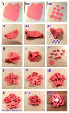 folded flower step by step
