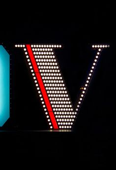 Letter V | A neon letter sign lamp that can be a wall or floor lamp depending on your choice. #design #industrial #interiors #vintage  www.delightfull.eu