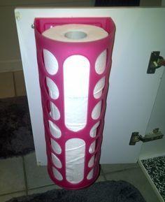 Ikea bag holder as a RV toilet paper holder on inside of cabinet