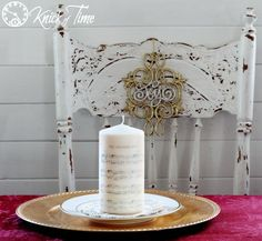 Knick of Time | DIY Christmas Sheet Music Image Transfer on Candles | http://knickoftime.net