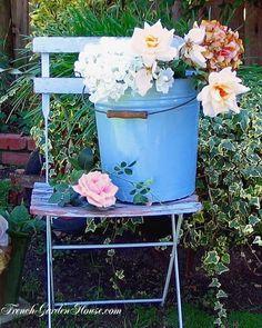 Beautiful flower pail